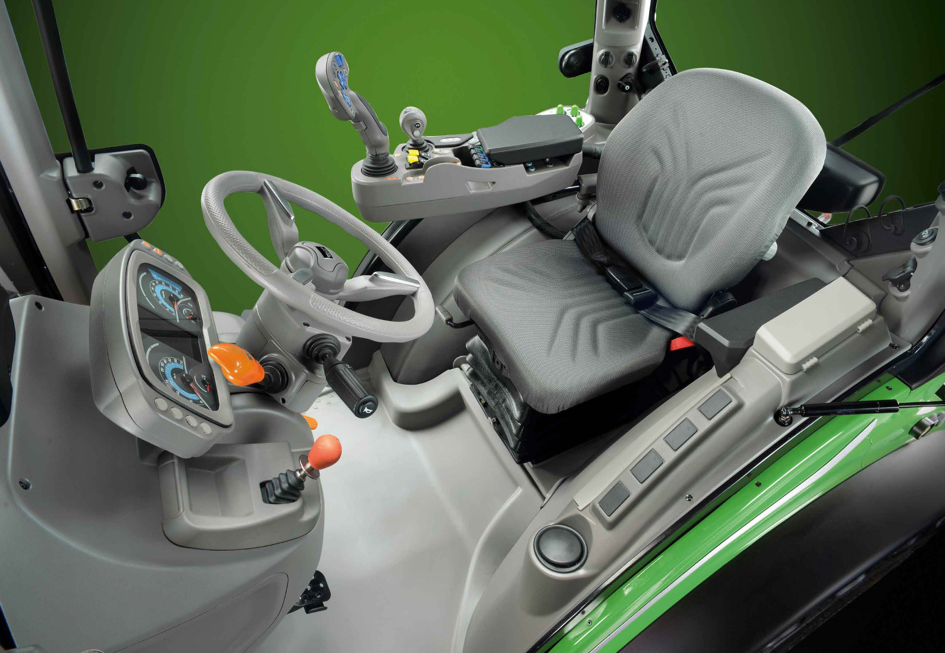 Traktorhytt - Deutz-Fahr 5D-serien, traktorer med maximal teknologi och ergonomi